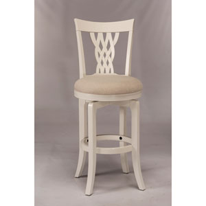 Embassy White Swivel Counter Stool