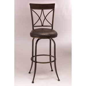 Killona Pewter Swivel Counter Stool