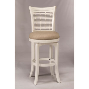 Bayberry White Swivel Bar Stool