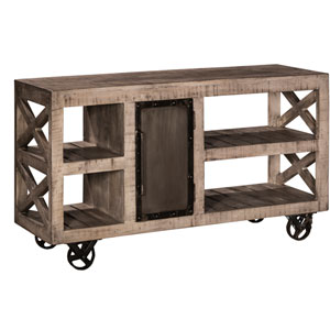 Bridgewater Server with Casters - Rubbed Black