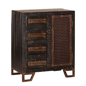 Bridgewater Accent Cabinet - Rubbed Black