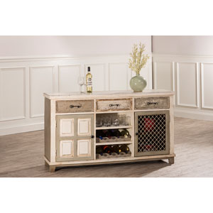 LaRose Door Console Table with Removable Wine Rack