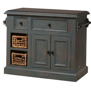 Tuscan Retreat ® Medium Kitchen Island with Two Baskets