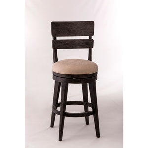 Leclair Black Swivel Counter Stool
