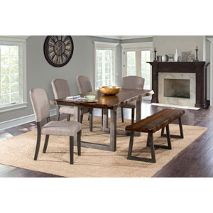 Emerson Gray Sheesham 6-Piece Rectangle Dining Set