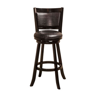 Brannon Black Swivel Bar Stool