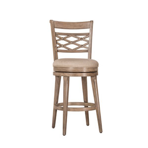 Chesney Weathered Gray Swivel Bar Stool