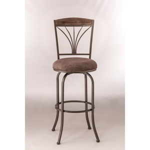 Cresmont Gray Stone Swivel Bar Stool