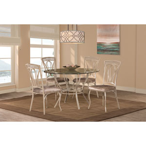 Napier Aged Ivory 5-Piece Round Dining Table Set