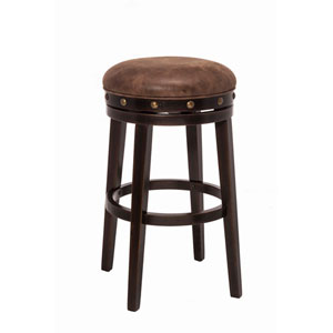 Benard Deep Smoke Brown Backless Bar Stool