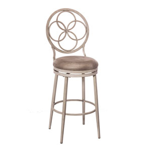 Donnelly Weathered Gray Swivel Bar Stool