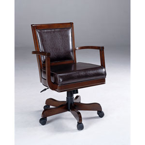 Ambassador Medium Brown Cherry Caster Game Chair