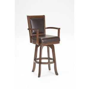 Ambassador Rich Cherry Square Back Swivel Barstool