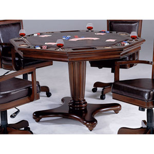 Ambassador Rich Cherry Octagon Game Table