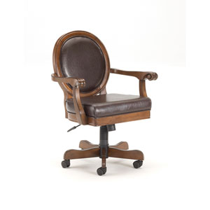 Warrington Rich Cherry  Round Back Game Chair