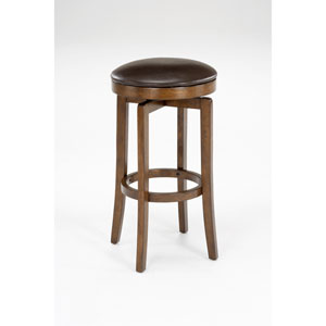 Brendan Brown Cherry Wood Backless Swivel Barstool