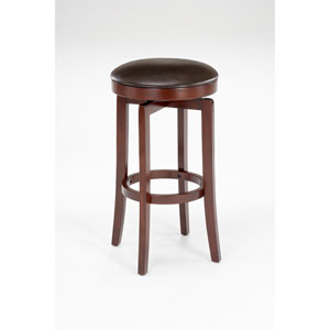 Malone Cherry Wood Backless Swivel Barstool