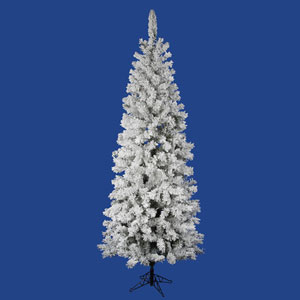 Flocked White on Green 5.5 Foot Pacific Christmas Tree