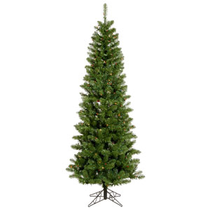 Salem Pencil Pine 4.5 Ft. Artificial Tree with 110 Multi Colored LED Lights