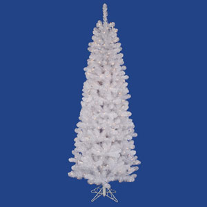 White Salem Pencil Pine 5.5 Ft. Artificial Tree with 135 Warm White LED Lights