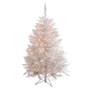 Crystal White Spruce 4.5 Ft. Artificial Tree with 180 Pure White LED Lights