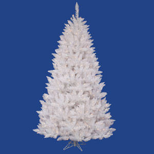 Crystal White Spruce 6.5 Ft. Artificial Tree with 600 Clear Lights