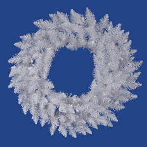 Crystal White Spruce 36 Inch Wreath