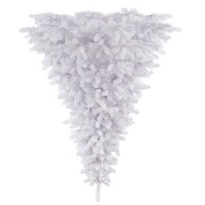 White 6 Foot Upside Down Christmas Tree
