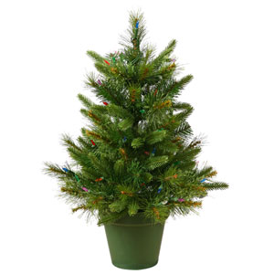 Green Cashmere Pine Christmas Tree 2-foot
