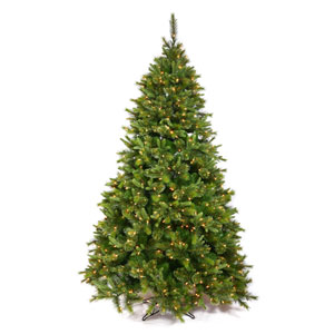 Green Cashmere Pine Christmas Tree 6.5-foot w/LED lights