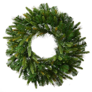 Green 72-Inch Cashmere Wreath