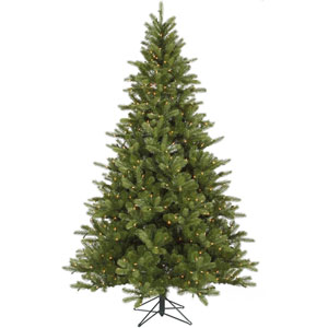 King Spruce 7.5-Foot Christmas Tree w/700 Clear Dura-Lit Lights and 1402 Tips