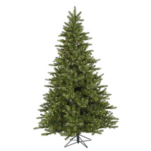 King Spruce 7.5-Foot Christmas Tree w/700 Warm White LED Lights and 1402 Tips