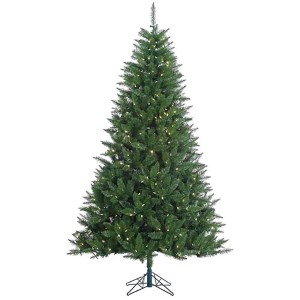 Lincoln Green Fir 7.5 Foot x 52-Inch Christmas Tree with 500 Warm White LED Lights and 1176 Tips
