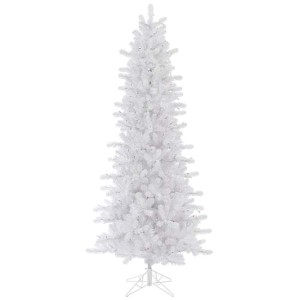 Crystal White Slim Pine 7.5 Foot x 42-Inch Christmas Tree with 1012 Tips