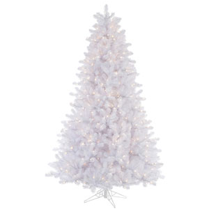 Crystal White 8.5 Foot Pine Tree with 900 Clear Lights