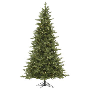 Green 7.5 Foot Fresh Balsam Fir LED Christmas Tree with 750 Warm White Lights