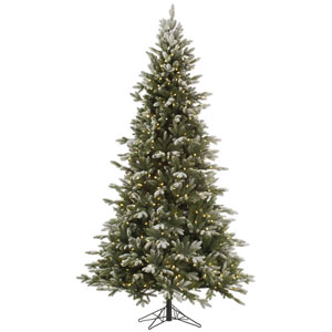 Frosted 7.5 Foot Balsam Fir LED Christmas Tree with 750 Warm White Lights