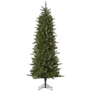 Carolina Green Pencil Spruce 7.5 Foot x 38-Inch Christmas Tree with 450 Warm White LED Lights