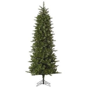 Green 12 Foot LED Carolina Pencil Spruce Tree with 800 Warm White Lights