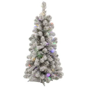 3 Ft. Flocked Kodiak LED Tree