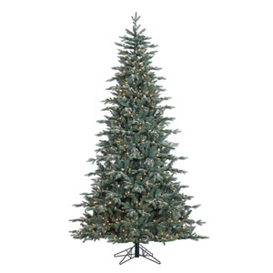 Green 7.5 Foot Crystal Balsam Christmas Tree with 750 Clear Lights