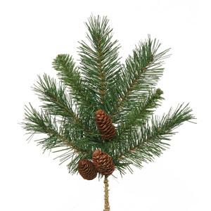 Green Cheyenne Pine Spray with Cones 15-inch