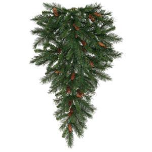 Green 42-Inch Cheyenne Pine TearDrop with 50 Warm White Lights