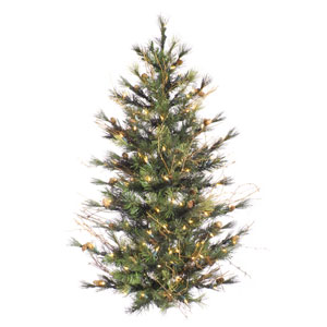 Green Mixed Country Pine Unique Tree 3-foot