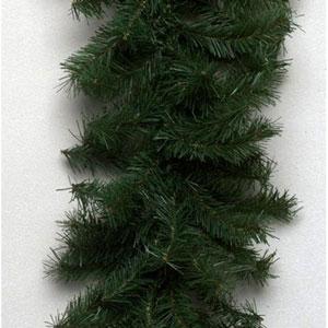 Green Canadian Pine Garland 8-inch