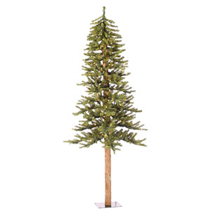 Natural 5-Foot Alpine w/150 Clear Mini Lights and 475 Tips