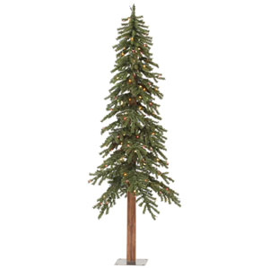 Green 5 Foot Natural Alpine Tree with 150 Multicolor Lights
