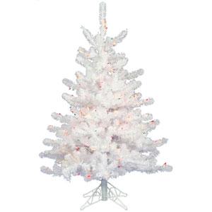 Crystal White Christmas Tree 2-foot