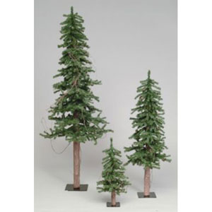 Alpine Tree with Pine Cones and Vine 3-Foot Alpine w/187 Tips